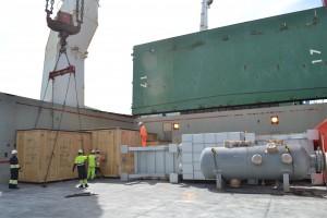 transporte partes a presión caldera de recuperación
